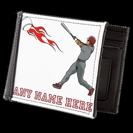 Personalized Baseball Mens Wallet