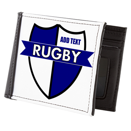 Rugby Shield White Blue Mens Wallet