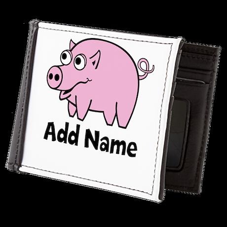 Add Name - Farm Animals Mens Wallet