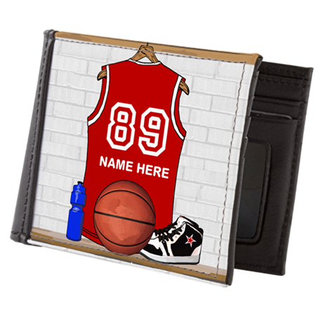 Personalized Basketball Jerse Mens Wallet
