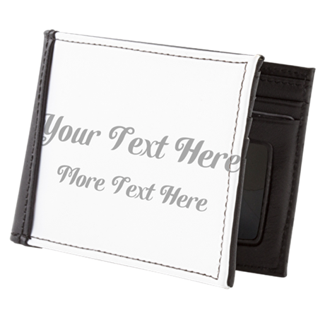 Elegant Gray Custom Text. Mens Wallet