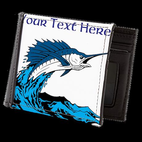 Personalizable Swordfish Design Mens Wallet