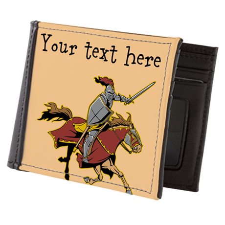 Customizable Knight on Horse Mens Wallet
