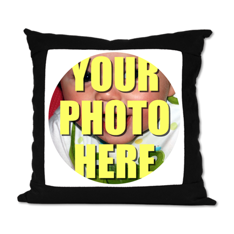 Personalized Circular Image Suede Pillow