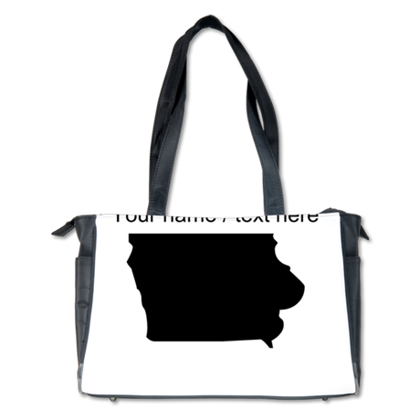 Custom Iowa Silhouette Diaper Bag