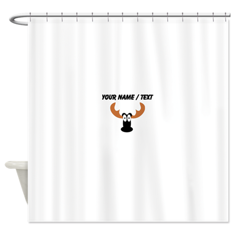 Custom Moose Shower Curtain By Personalizedanimalgifts