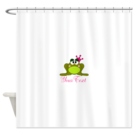 Personalizable Pink And Green Frog Shower Curtain By Beachbumfamilyshop