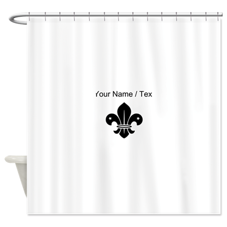 Custom fleur de lis shower curtain by mycooldesigns - Fleur de lis shower curtains ...