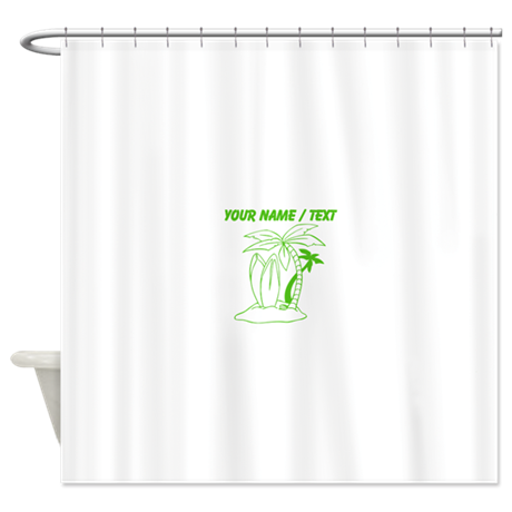 Custom Surf Beach Shower Curtain By Coolgraphicdesigns