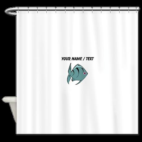 custom dark blue tropical fish shower curtain by customaquaticlife. Black Bedroom Furniture Sets. Home Design Ideas