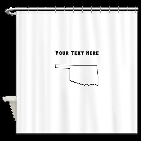 Oklahoma Outline Custom Shower Curtain By Statesoftheusa