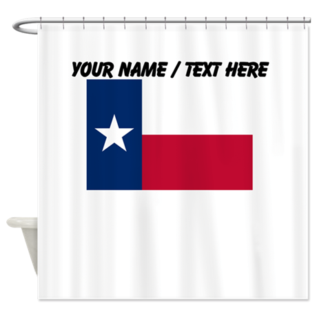Custom Texas State Flag Shower Curtain By Customstategifts