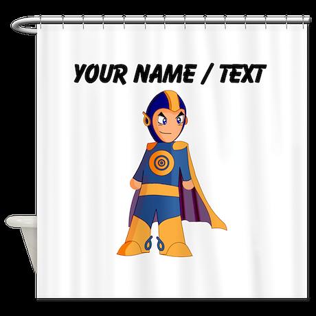 Custom super hero shower curtain by personalizeddesigngifts for Superhero shower curtain