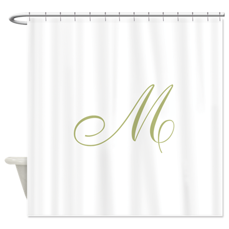 Gold Monogrammed Initial Shower Curtain by musicalartworks