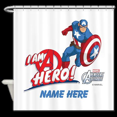 Avengers assemble captain america p shower curtain by theavengers - Captain america curtains ...