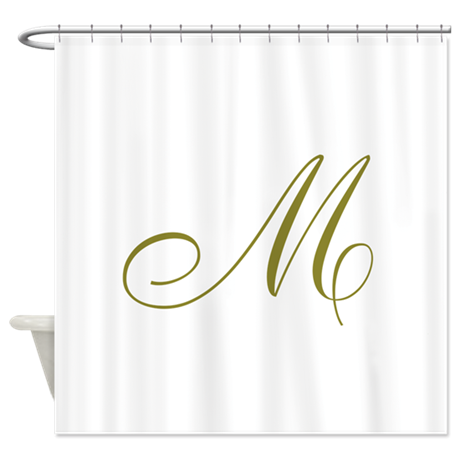 Elegant Monogrammed Shower Curtain by PersonalizeTheseGifts