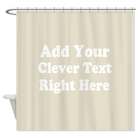 Add text background gray shower curtain by marshenterprises for Gray curtains png