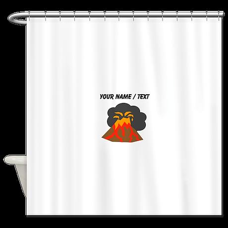 Custom Erupting Volcano Shower Curtain