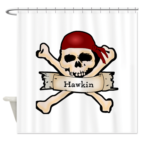 Personalized Pirate Skull Shower Curtain