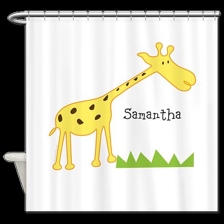 Custom Giraffe Shower Curtain