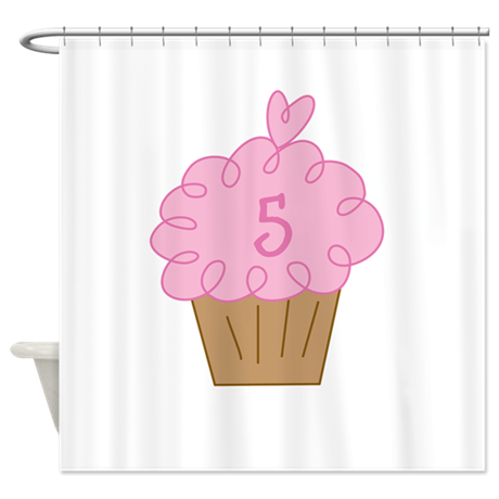 Custom Cupcake Birthday Shower Curtain