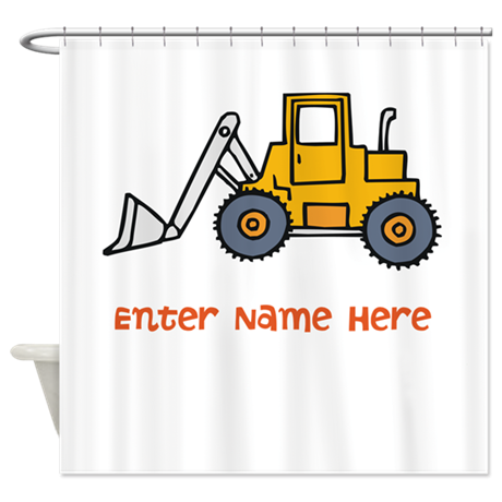 Personalized Loader Shower Curtain