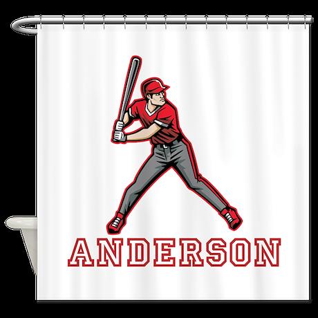 Personalized Baseball Shower Curtain