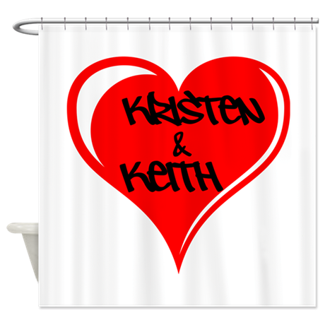 Personalized with names Valentines day heart Showe