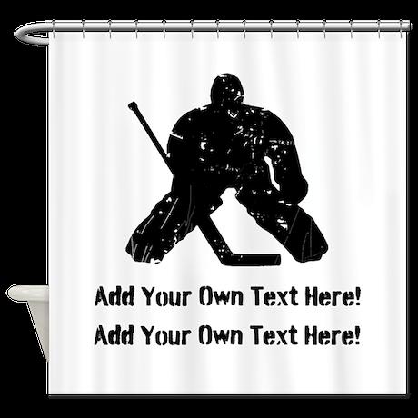 Personalize It, Hockey Goalie Shower Curtain