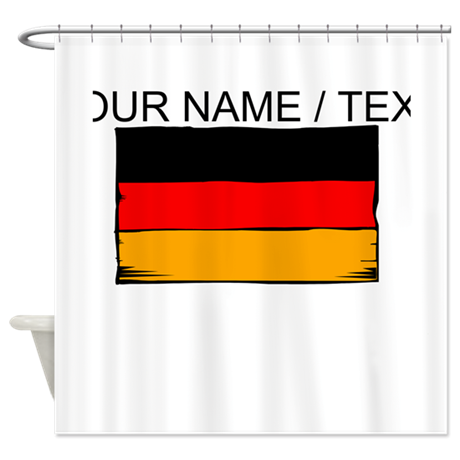 Custom Germany Flag Shower Curtain
