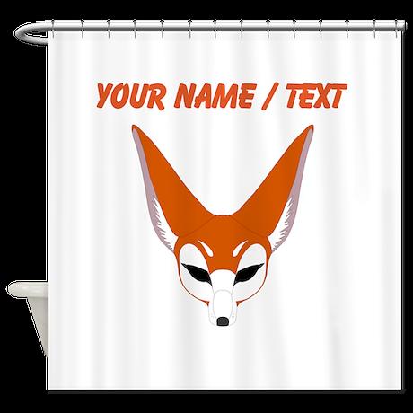 Custom Red Fox Shower Curtain