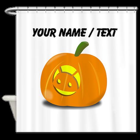Custom Android Jackolantern Shower Curtain