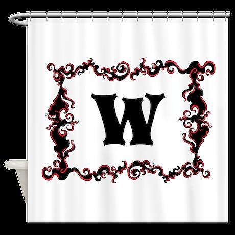 Custom Monogram and Swirls. Shower Curtain
