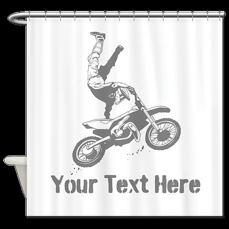 Freestyle Motocross Shower Curtain