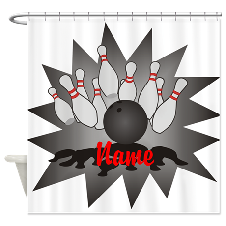 Personalized Bowling Shower Curtain