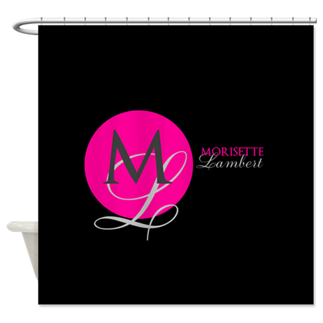 Modern and Elegant Stylist Monogram Shower Curtain