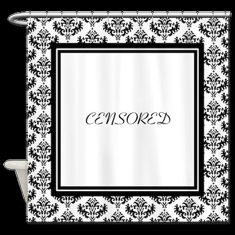 Black Damask Shower Curtain