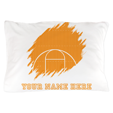 Custom orange basketball court pillow case by yournamesports for Custom basketball court cost