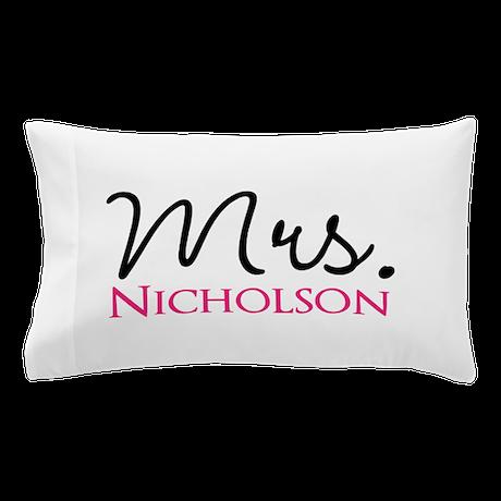 Custom Mrs. Pillow Case