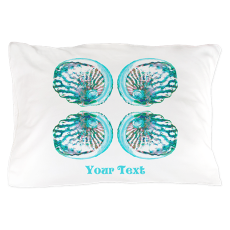 Image of Shells with Text. Pillow Case