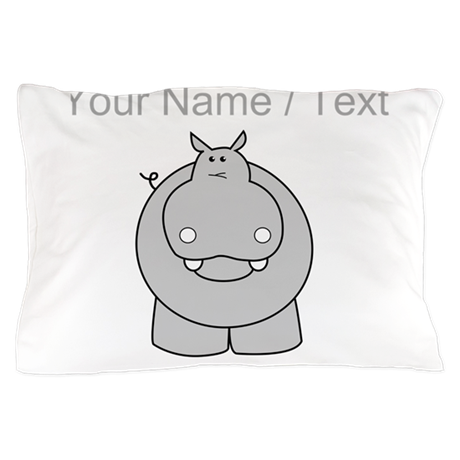 Custom Hippo Pillow Case