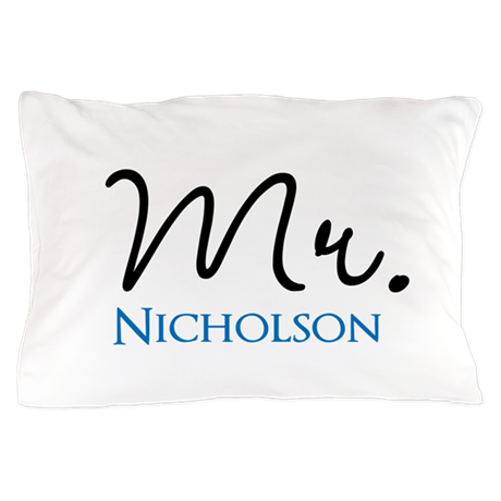Customizable Mr and Mrs set - Mr Pillow Case