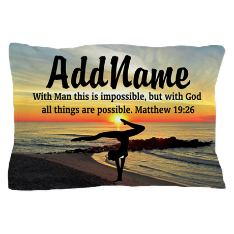 GYMNAST MATTHEW 19:26 Pillow Case