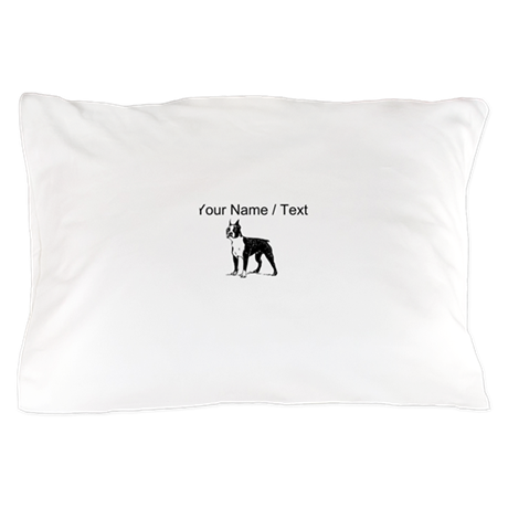 Custom Boston Terrier Sketch Pillow Case