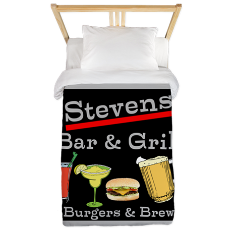 Personalized Bar and Grill Twin Duvet