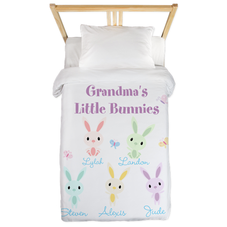 Grandmas little bunnies custom Twin Duvet