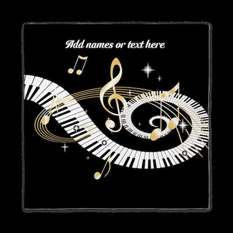 Designer musical notes queen duvet by auslandgifts - Music notes comforter ...