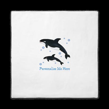 Personalized Killer Whale Queen Duvet