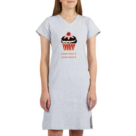 PERSONALIZE Vanilla Cupcake Women's Nightshirt