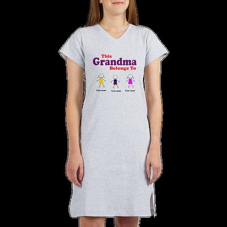Personalized Grandma 3 kids Women's Nightshirt